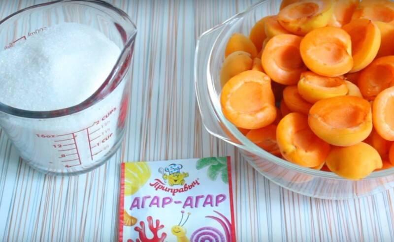 """Варенье """"пятиминутка"""" из долек абрикосов"""