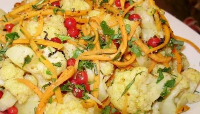 Рецептыбыстрого приготовления цветной капусты по-корейски на зиму