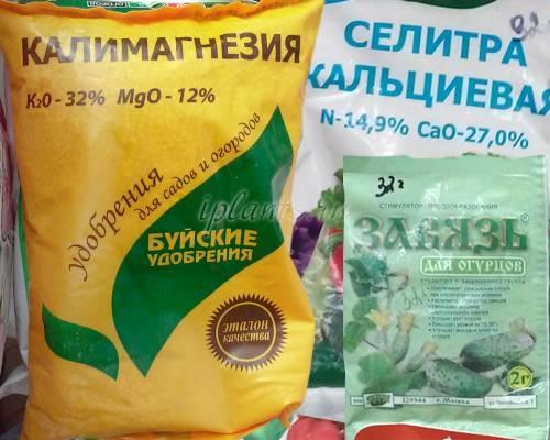 Применение и виды калийных удобрений для огурцов