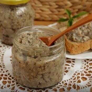 Грибная икра из вареных грибов: самые вкусные рецепты приготовления
