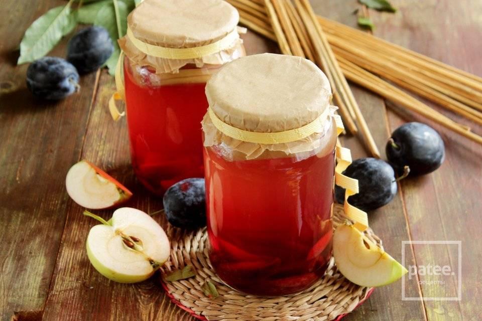 Рецепты компота из яблок на зиму на 3 литровую банку: ассорти, дольками и целиком