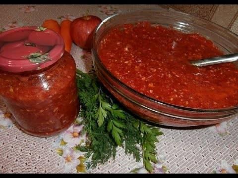 Готовим острый соус №1 – огонёк из помидоров на зиму. самые знаменитые рецепты огонька из помидоров на зиму