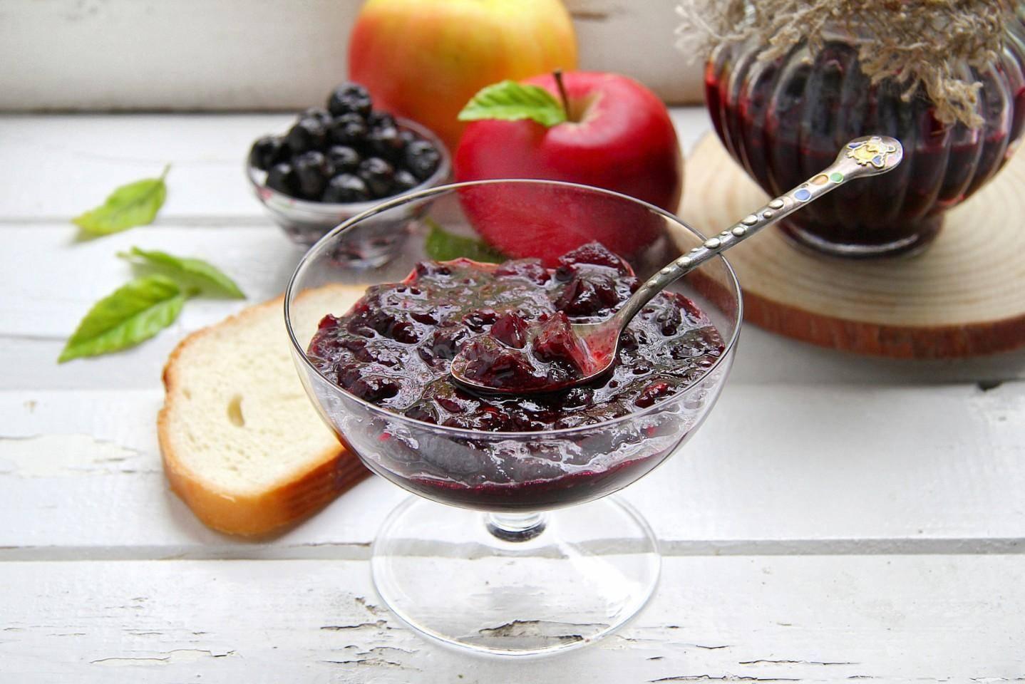 Варенье из черноплодной рябины с яблоками - 5 рецептов с фото пошагово