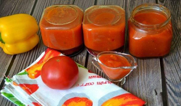 Кетчуп из помидоров с яблоками: простые рецепты на зиму